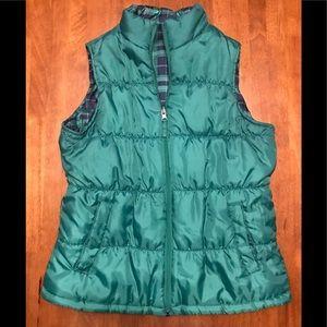 Jackets & Blazers - Like new reversible green plaid vest size Large